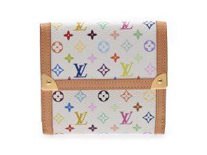 buy popular 0b257 6268d ルイ・ヴィトン] LOUIS VUITTON マルチカラー Wホック財布 白 ...